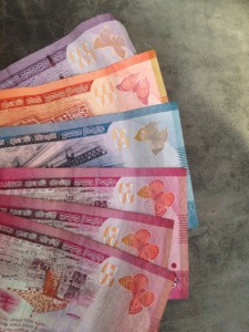 Such colorful money, love it :)