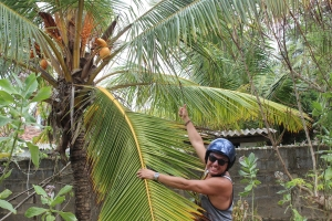 Hakan gets excited about coconuts