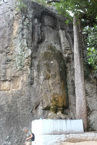 Massive buddha carved in the rock